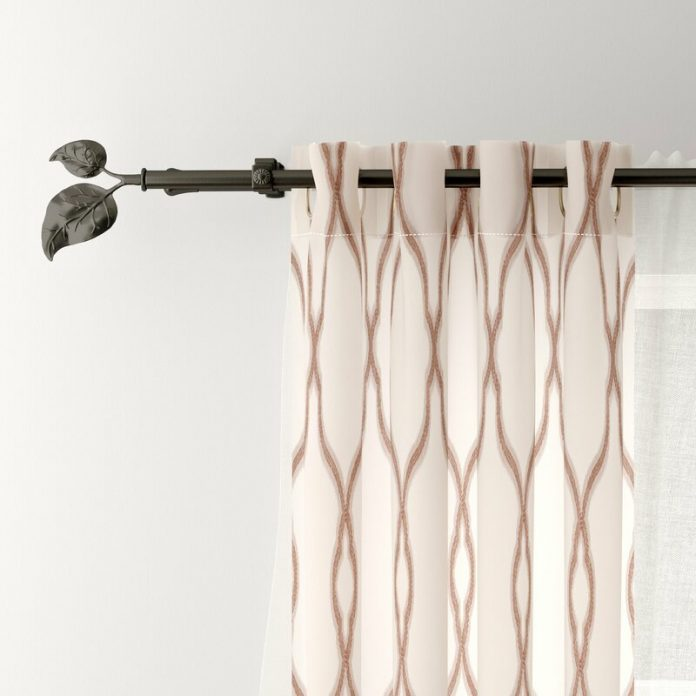 make stylish curtain rods from pvc