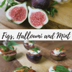 halloumi starter and how to cook halloumi with figs