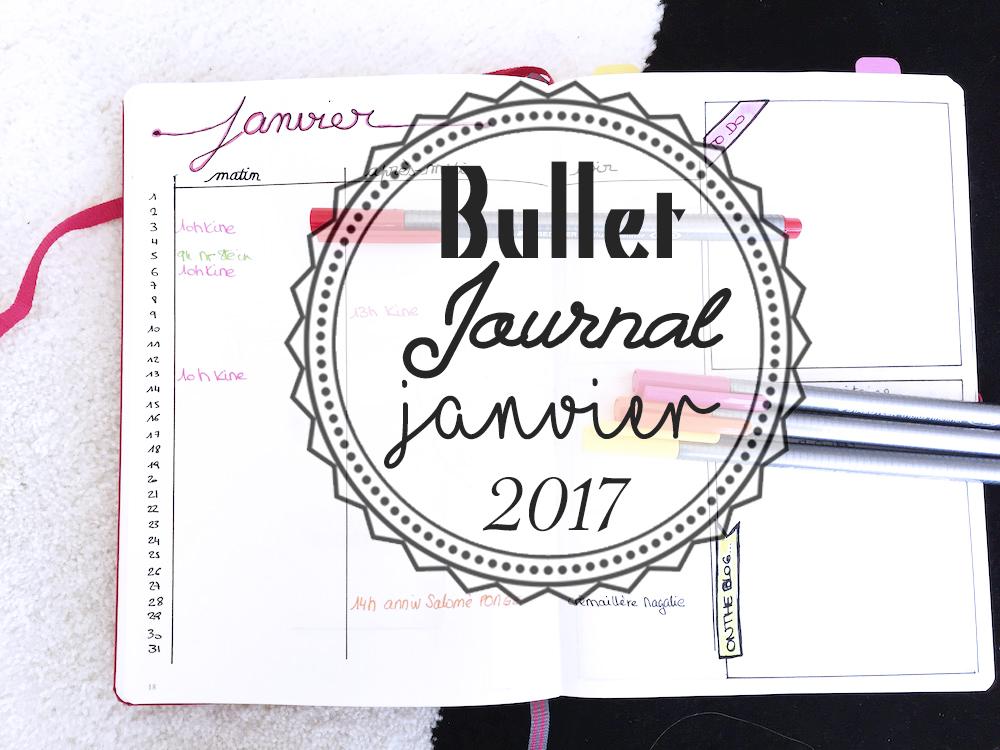 Bullet Journal : Janvier 2017