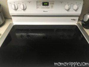 Kitchen Stove after h2O at Home's Cleaning Clay