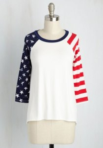 Buy American Made this Fourth of July with this festive shirt via ModCloth.