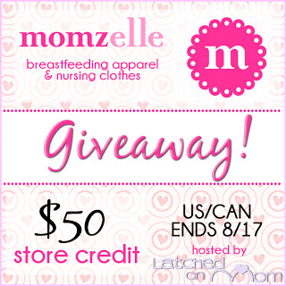 Win a $50 Store Credit to Momzelle in Celebration of World Breastfeeding Week!