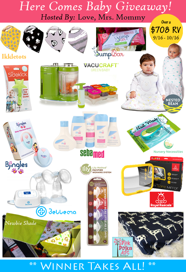 Here Comes Baby Giveaway – Open 9/16-10/16