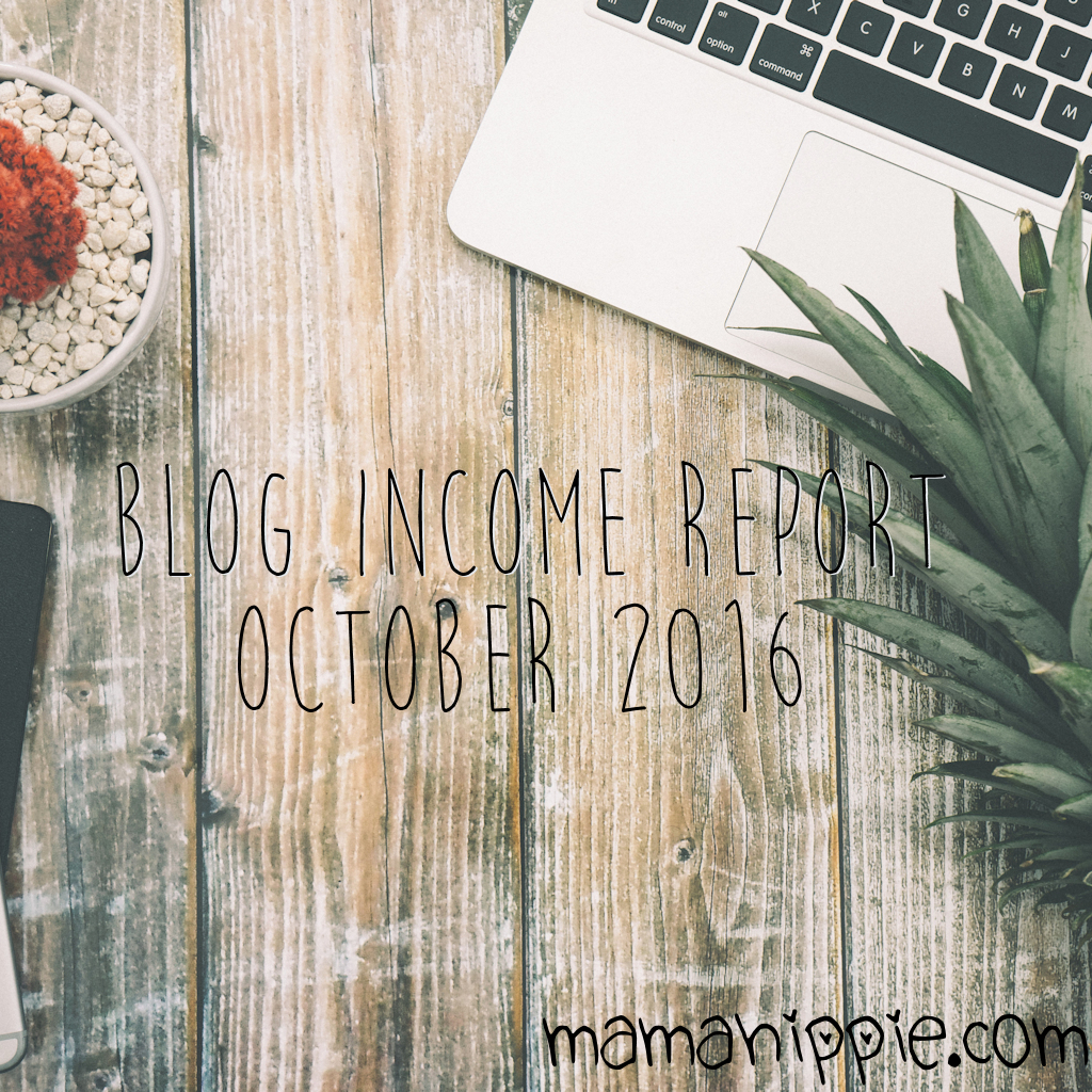 Blog Income Report for October of 2016