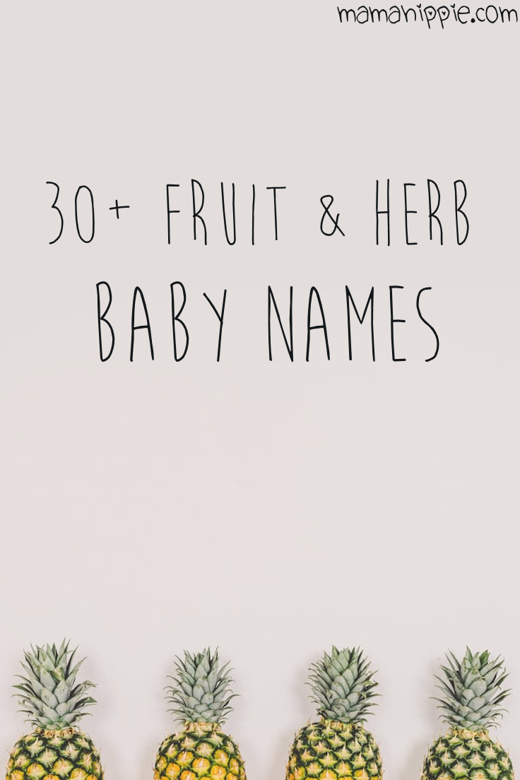 Looking for a unique baby names for your new little pumpkin? Find the perfect name inspired by fruits, vegetables and herbs.