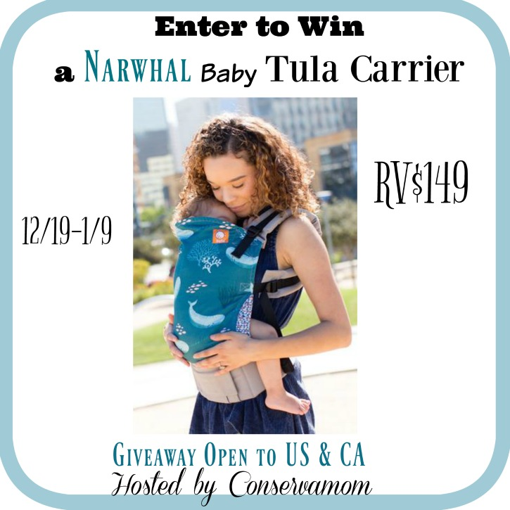 Win a Tula Baby Carrier in Narwhal (12/19/16-1/9/17; USA & CA)