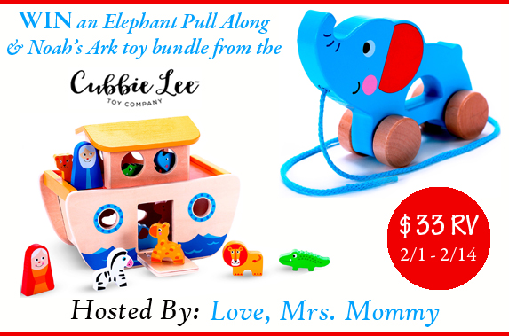 Enter to Win 2 Wooden Toys From Cubbie Lee (USA; 2/1-2/14/17)