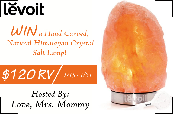 Enter to win a Levoit Himalayan Salt Lamp (USA; 1/15 – 1/31/17)