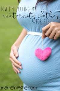 Maternity clothes are expensive, and uou really only wear them for a few months! Find out how one mother stocked her maternity wardrobe with cute clothes... for free!