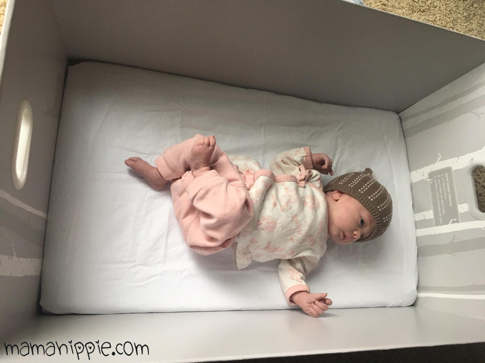 The Smitten, an American take on the Finnish baby box is a great way for baby to get safe sleep.