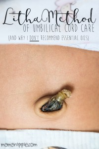Umbilical cord care can be confusing; natural health books say one thing, traditional baby books say another, and nurses tell you an even different way. Find out the easiest way to care for your newborn's umbilical cord stump, and why essential oils are a no no on your baby.