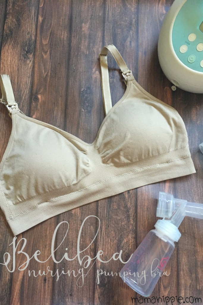 The Belibea bra is a maternity and nursing bra that also allows you to pump hands free. It features two cups allowing you to wear one garmet for both nursing and pumping. It comes in 2 standard colors. There is also a cami available with the same features. The stretchy and soft material make it a great option for pregnancy as it will stretch to accomdate a growing bustline