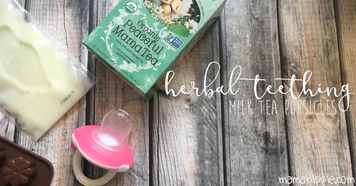 Soothe baby's sore gums with this delicious herbal teething milk tea posicle recipe.