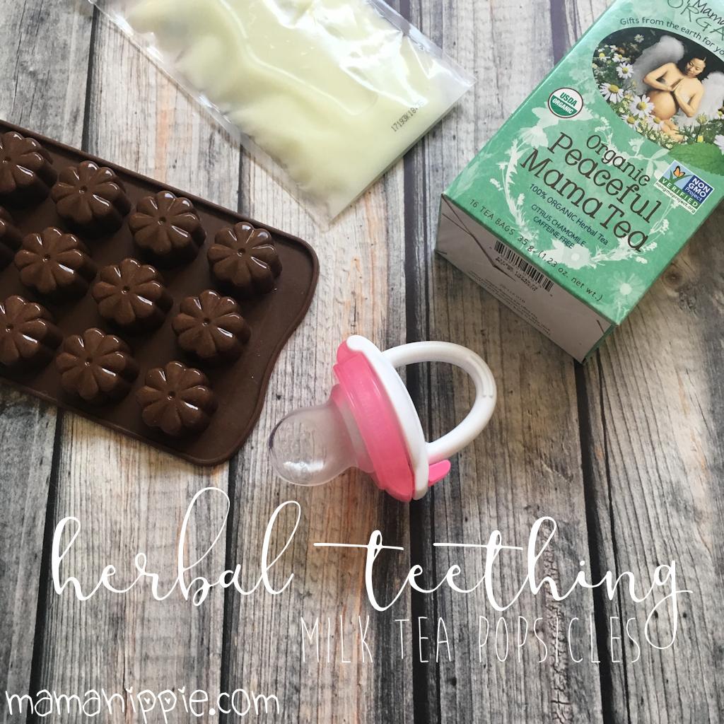 Herbal Teething Milk Tea Popsicles