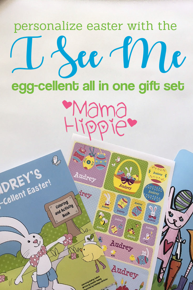A lot of those premade Easter baskets available in stores are just full of junk. Why not get something your little one will actually use? Now you can personalize Easter with the I See Me! Egg-cellent All-in-One gift set.