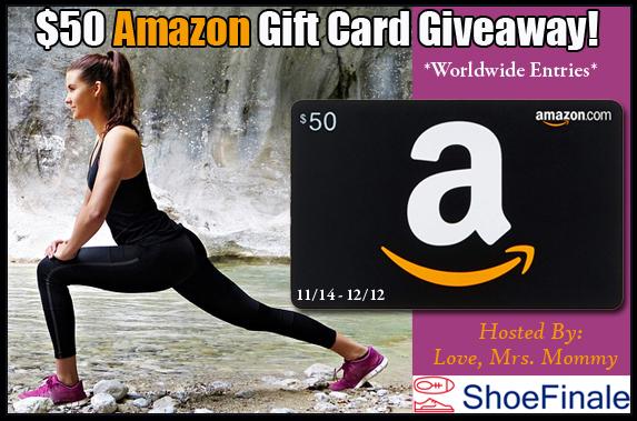 $50 Amazon Gift Card Giveaway (Worldwide; 11/14-12/12)