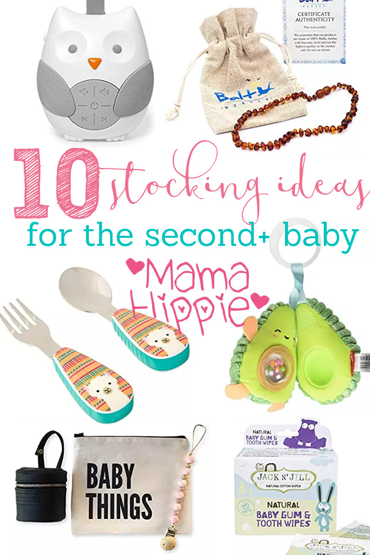 Get stocking stuffer ideas for second, third, fourth and beyond babies 0-1 with this great list (no junk!)