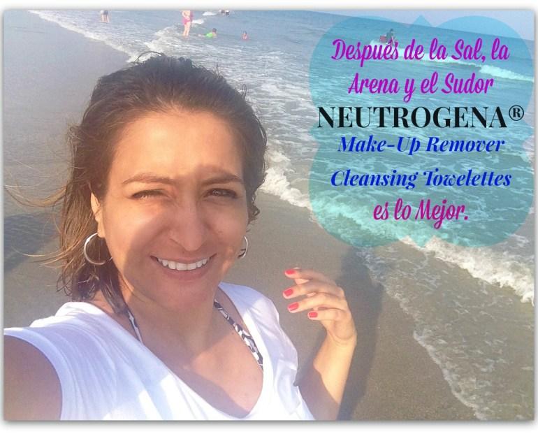 Después de la Sal, la Arena y el Sudor Neutrogena® Makeup Remover Cleansing Towelettes es lo Mejor.