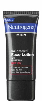 Neutrogena Men® Triple Protect Face Lotion with sunscreen SPF 20~Tips para Cuidar la Piel del Hombre de la Casa. Sorteo #YouGottaRespect