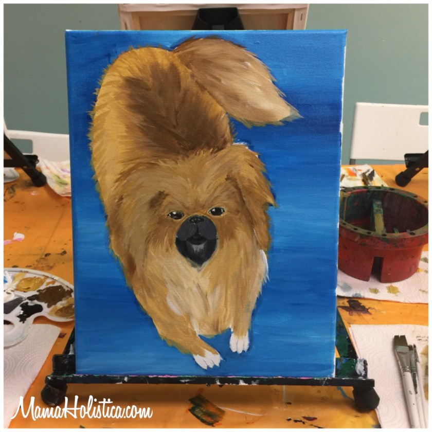 Miércoles Mudo/Wordless Wednesday: Pintando a la Cachorra. #MM