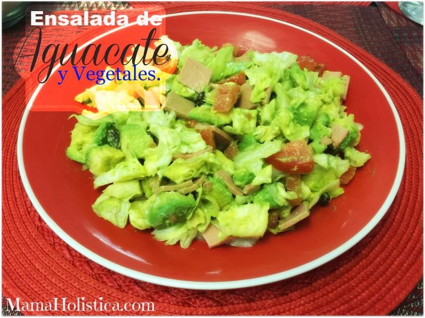 Receta Ensalada de Aguacate y Vegetales.