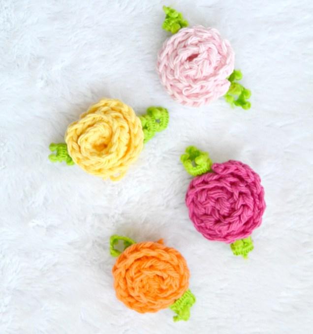 Little Crochet Deco Roses