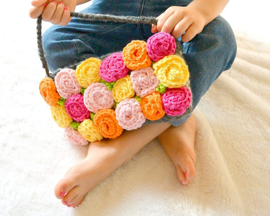 Rose Crochet Purse