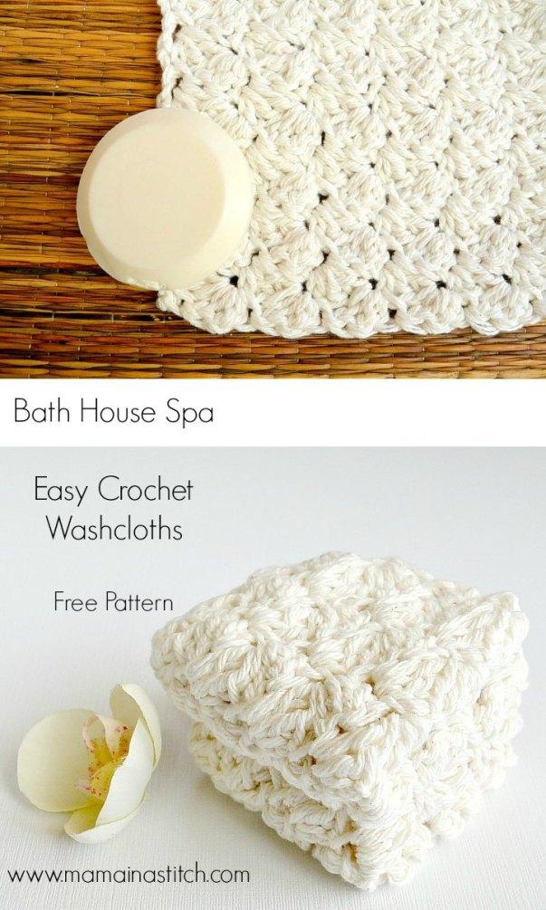 Easy Crochet Spa Washcloths