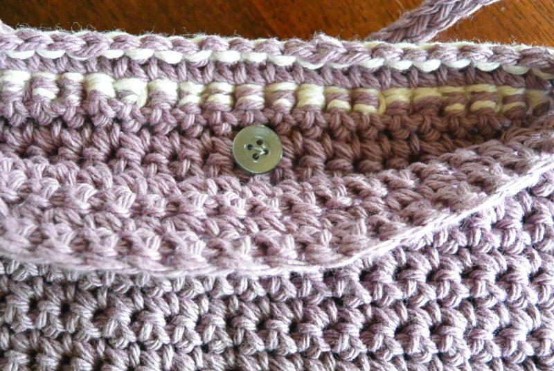 Fringe Crochet Bag Pattern Button Placement