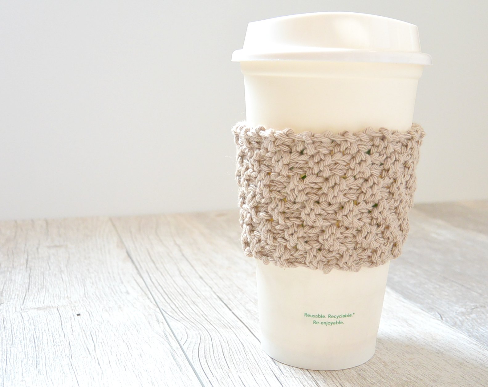 crochet cup cozy Be Kind theme Pink Love Coffee cup cozy cup cozy coffee cup sleeve reusable cup cozy be kind love coffee cozy