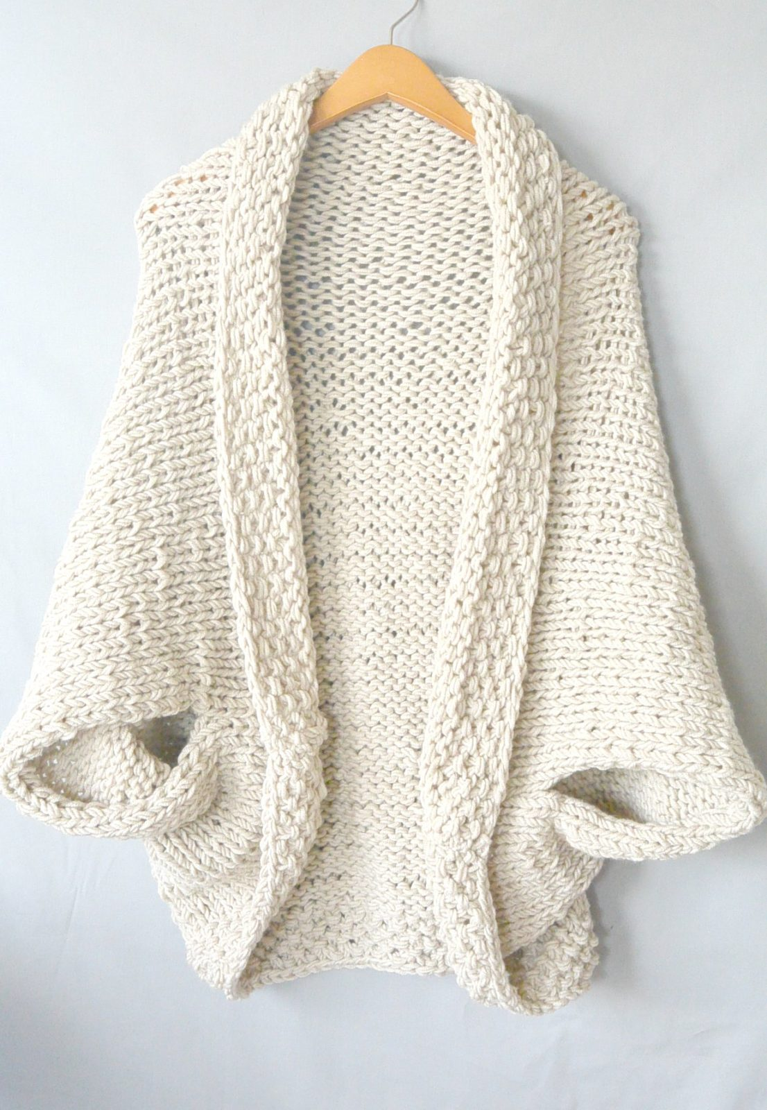 For A Very Easy To Knit Shrug Pattern
