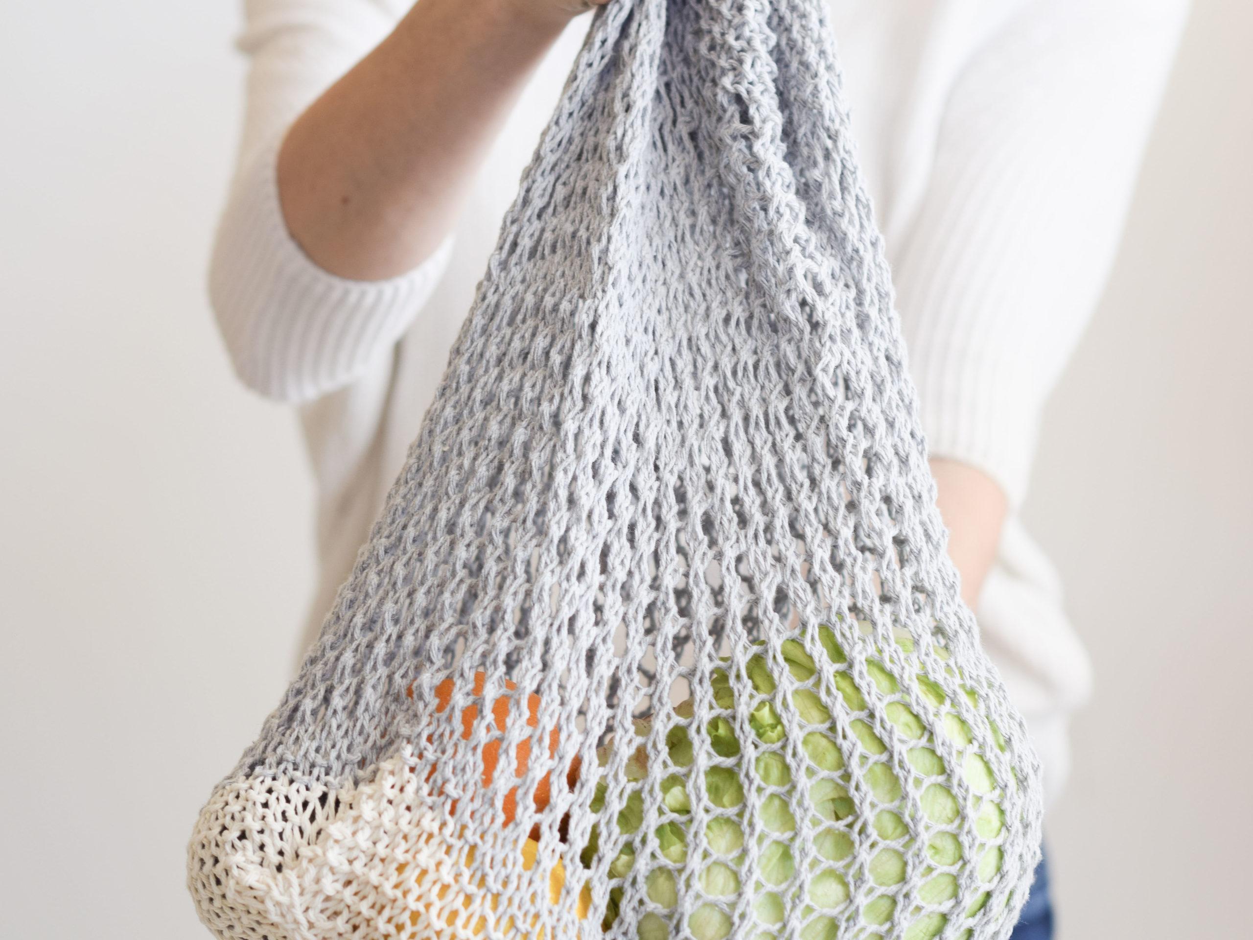 Instant Download Farmer/'s Market Bag Knit Pattern Intermediate Knitting Pattern DIY Knit Project
