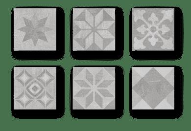 Carrelage patchwork Codicer SIGNUM Grey - imitation carreaux de ciment