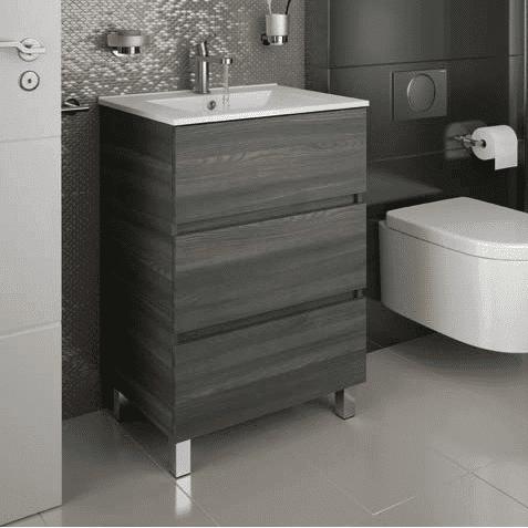 Salgar Fussion Line - Meuble salle de bain 2/3 tiroirs & vasque