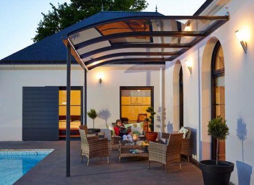abri terrasse un toit design en kit