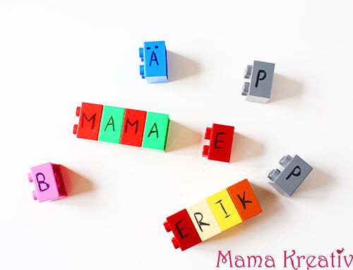 Buchstaben-Spiel aus lego