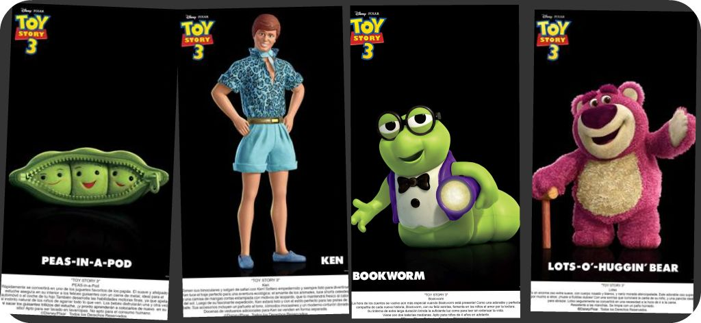 Nuevos Personajes – Toy Story 3 – New Characters