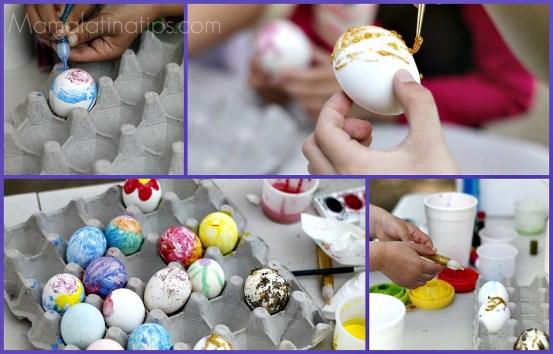 Como hacer cascarones de Pascua - mamalatinatips.com