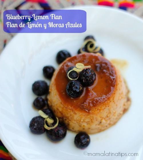 Lemon Blueberry Flan