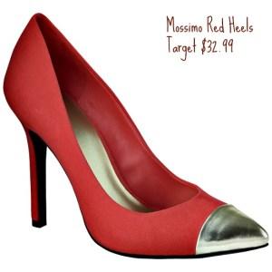Zapatos de tacón rojo Mossimo