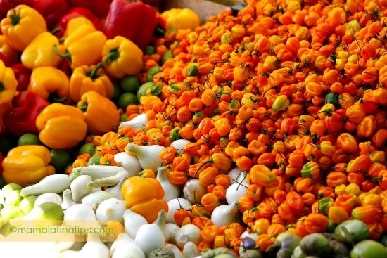 Habanero Chiles in the Market