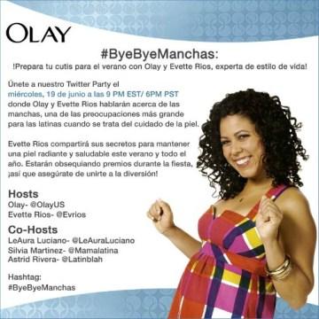 Acompáñanos a una Fiesta en Twitter con la Experta de Estilo Evette Ríos – #ByeByeManchas
