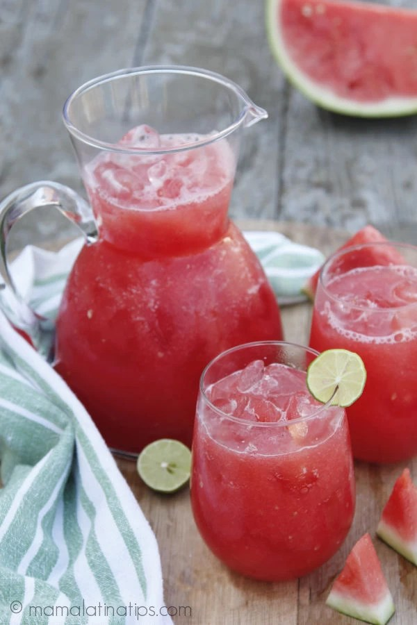 Pitcher of Mexican watermelon cooler