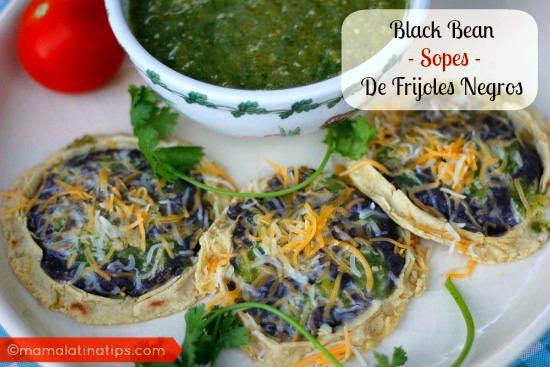 Sopes de Frijoles Negros