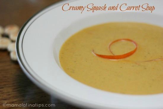 Creamy squash and carrot soup mamalatinatips