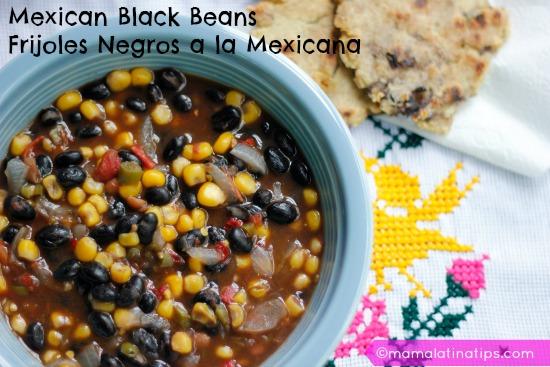 Frijoles negros a la mexicana