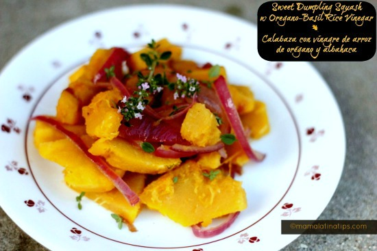 Sweet Dumpling Squash with Basil-Oregano Rice Vinegar