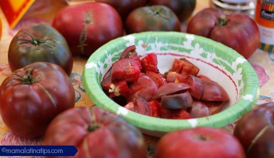 Heirloom Tomatoe Purple Cherokee mamalatinatips