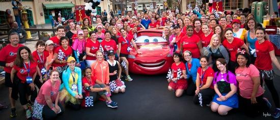 Disney Fun Run Group Picture