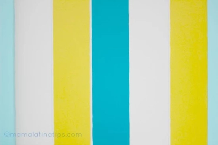 colorful stripes, blue, yellow and white
